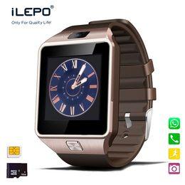 Wholesale Wristwatch Phones - DZ09 Smart Watch with Camera Bluetooth WristWatch SIM Card Smartwatch GT08 A1 U8 smartwatch for Android IOS Phones
