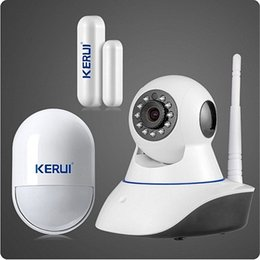 Wholesale Door Alarm Ip - LS111- Wireless WiFi HD 720P IP Camera Home Security Night Vision System sucerity alarm camera door sensor pir detector alarmsystem kit