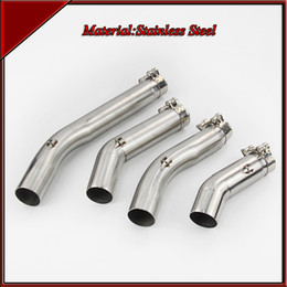 Wholesale Stainless Steel Exhaust Muffler - Stainless Steel mid pipe of Motorcycle exhaust pipe For GSXR 1000 2005-2006 GSXR 600 750 2006-2007 2008-2009 GSXR 2011-2015