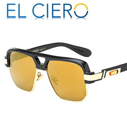 b02729eee6e EL CIERO High Quality Luxury Semi Rimless Sunglasses For Men   Women Modern  Fashion Designer Shades Square Sun Glasses Casual Eyewear UV400