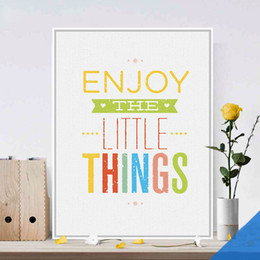 Wholesale Hearts Things - Free shipping novelty gift colorful Enjoy the little things words hearts pattern home decorative hanging poster photo picture