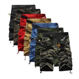 Wholesale Large Chiffon Pants - 2017 New the British men shorts Summer hot Camouflage pants camouflage overalls loose Large size mens shorts