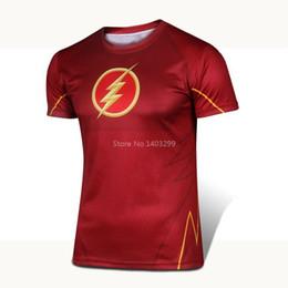 Wholesale Superhero Boys Shirts - Wholesale- HOT Short sleeve Superhero T shirt Man Women Costume Play COSPLAY Boy Children Quick Dry Bodybuilding Big size XS-4XL