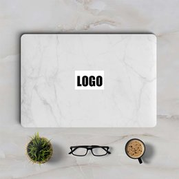 """Wholesale Macbook Protective Decals Stickers - White Marble Laptop Sticker for Apple MacBook Decal Pro Air Retina 11"""" 12"""" 13"""" 15 inch Mac HP Mi Protective Full Cover Skin"""