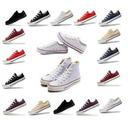 Wholesale Canvas Shoes Size 26 - 13 Color 26 Style All Size 35-46 Low Style High Style Chuck Classic Canvas Shoes Sneakers Men Women Sport Shoes Casual Shoes