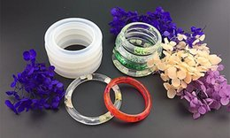 Wholesale Epoxy Bangle - Soft Silicone Jewerly Mould Epoxy Bracelet Bangle Mold Hand Resin Craft Jewelry Making Mold