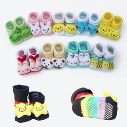 Wholesale Newborn Animal Socks - Newborn Baby Unisex Anti-slip Socks Animal Cartoon Shoes Slipper Boots Panda Star Winnie Animal 0-18month Baby & Kids Clothing Socks MD001
