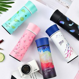 Wholesale Office Foot - Creative Insulated Cup Portable Stainless Steel Water Bottle Flamingo Coffee Mug Office Gift Many Styles 31jx C R