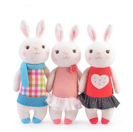 Wholesale Metoo Rabbit Doll - Tiramisu rabbit Metoo stuffed doll kids gifts 8 seat, Bunny Hug Lamy Rabbit Toys Birthday Presents 35cm