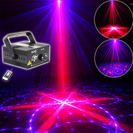 Wholesale Pattern Projector - Mini 3 Len 24 RB Red Blue Patterns Projector Stage Equipment Light 3W Blue LED Mixing Effect DJ KTV Show Holiday Laser Stage Lighting Z24RB