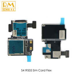 Wholesale Sim Card Memory Sd Holder - DHL 200pcs lot For Samsung Galaxy S3 i9300 S4 i9505 Replacement Parts Sim Card Reader Holder Micro SD Memory Socket Slot Tray Flex Cable