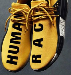 Wholesale Women Trainers Sale - Original Pharrell Williams X NMD Human Race Running Shoes NMD Runner men and women Trainers Sneakers Boots Size 36-45 for sale