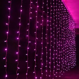 stars party decorations Promo Codes - 1600 LED lights 10*5m Curtain Lights led Lighting Strings Flash Fairy Festival Party light Christmas lights wedding Decoration lights