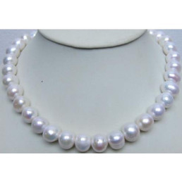 """Wholesale Huge Round Pearls - 18"""" HUGE 12-13MM PERFECT ROUND SOUTH SEA GENUINE WHITE PEARL NECKLACE 14K"""