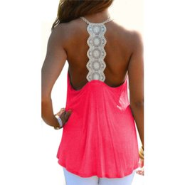 Wholesale Crochet Womens Vest - Wholesale- 2016 Summer New Fashion Womens Tank Top Sexy Backless Lace Crochet Beach Tops Woman Loose Vest Camisole Beachwear