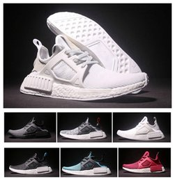 Wholesale Skull Shoes Men - 2016 Best Quality NMD XR1 Women & Men Casual Running Shoes TOP Quality NMD Mastermind Skull Black Red White Boost Fashion Sneakers
