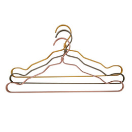 Wholesale Wholesale Car Clothing - Aluminum hanger adult bedroom anti - skid clothes hangers multi - function clothes hangers Three colors can be selected clothes racks