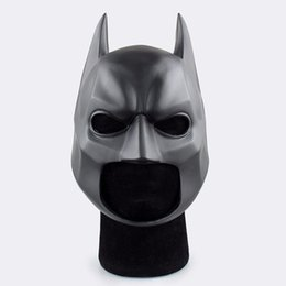 Wholesale knight toy - Movie Figure The Dark Knight Batman Soft Helmet Cosplay Mask PVC Action Figure Toy Christmas Gift Fast Shipping
