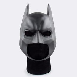 Wholesale Movie Helmet - Movie Figure The Dark Knight Batman Soft Helmet Cosplay Mask PVC Action Figure Toy Christmas Gift Fast Shipping