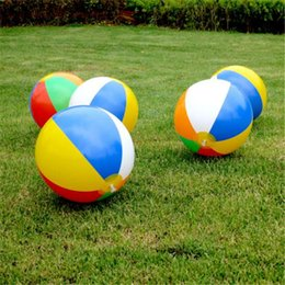 Wholesale Classic Fun - 23cm Inflatable Beach Pool Toys Water Ball Summer Sport Play Toy Balloon Outdoors Play In The Water Beach Ball Fun Gift