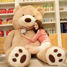 Wholesale Popular Teddy Bears - 1PC 100cm The American Giant Bear Hull , Teddy Bear Skin High Quality Low Price Popular Birthday Gifts For Girls ,Kid's Toy