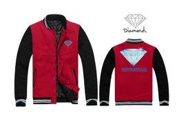 31f49ef9 2017 Mens JACKER Sweatshirts Diamond Supply baseball cloth Skellington Male  Charcoal Hoodies Accept Customized Cotton Hoodies