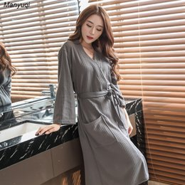 Wholesale thin bathrobes - Wholesale- women's thin bathrobe solid summer home bathrobe night sleepwear robes for women water absorption quickly dry robe