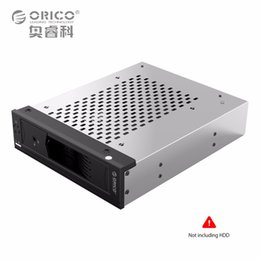 Wholesale Hard Disk Tools - Wholesale- Internal Hard Disk Drive Holder 5.25 in to 3.5 in SATA HDD Converter Mobile Rack for 5.25 CD-ROM Slot Tool Free Stainless Steel