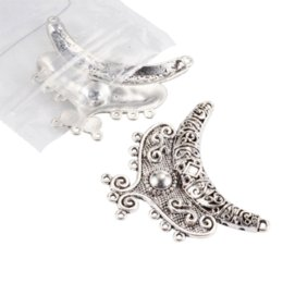 Wholesale Cadmium Jewelry - 100pcs 64x40x7mm, Hole: 2mm Antique Silver Tibetan Style Chandelier Jewelry Making Findings Components Link Cadmium & Lead Free