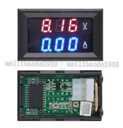 Wholesale Dual Volt Meter - Top Quality DC 100V 10A Voltmeter Ammeter Blue + Red LED Amp Dual Digital Volt Meter Gauge free shipping MYY