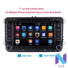 Wholesale Volkswagen Tv - 7 inches Pure Android 7.1.2 Car DVD Quad Core 16G ROM 1024*600 Screen Car Raio for VW Golf mk5 Polo Jetta Tiguan Passat B6 B5 CC Skoda