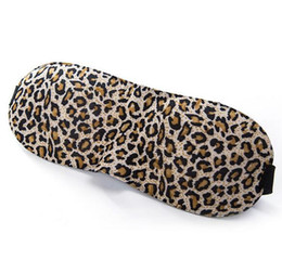 Wholesale leopard patches - LEOPARD Sleeping Soft Travel 3D Sponge sleep masks Rest EyeShade Sleeping Eye Mask Cover Patch Blinder for health care DHL free