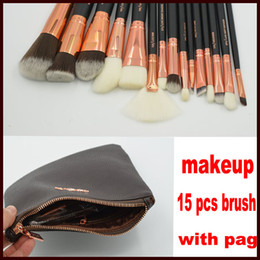 Wholesale Makeup Foundation Set - ZOV Makeup Brushes Set 15 pcs Foundation Powder Eye Complete Set 15pcs Pennelli Face Eye Brush Eyeshadow Eyeliner Makeup Kit
