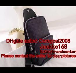 Wholesale Mens Leather Man Bags - 2017 new black plaid AV. SLING BAG D.GRAP. N41719 travel bag MENS cross body breast shoulder pouch N41612 N41473 41473 N41712 AVENUE N41720