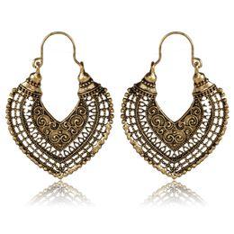 2019 bronze galvanisieren Fashion Heart Shaped Hohl Design Bronze Überzogene Fancy Ohrringe Galvanis Bronze Dangle Ohrring Schmuck Für Frauen günstig bronze galvanisieren