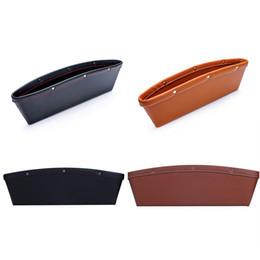 Wholesale Cars Caddy - Leather PU Vehicle Car Seat Gap Slit iPocket Catcher Organizer Caddy Storage Box