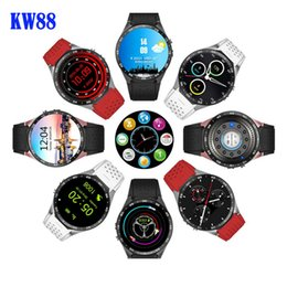 Wholesale Sim Supported Watch - 2016 Lemfo KW88 MTK6580 Android 5.1 OS Smart Watch Phone 400*400 Screen quad core smartwatch Support SIM pedometer heart rate