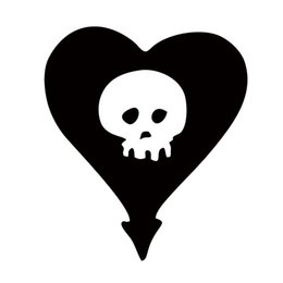 Wholesale Heart Car Sticker - New Style For Alkaline Trio Heart Skull Car Styling Decal Vinyl Personality Sticker Jdm Car Window Accessories Graphics Decor