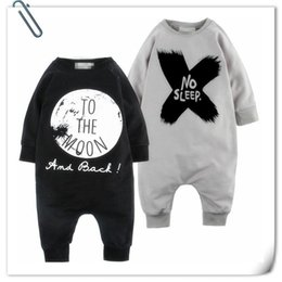 Wholesale Baby Boy Rompers Sale - INS Baby Jumpsuits Rompers Letters Print Jumpsuit Boys Cotton Clothes Overalls Coveralls Children Spring Autumn Hot Sale Wholesale