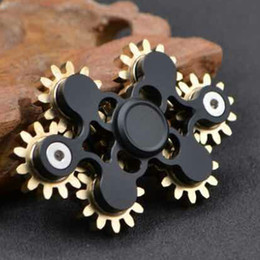 Wholesale Gear Wheel Tooth - 7 Teeth Linkage Fidget Spinner EDC Hand Spinner Fidget Toy Decompression Anxiety Finger Toys 7 Gear with Seven wheels DHL Free