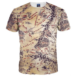 Wholesale Retro T Shirts Men - 3D T shirts Hot Sell Men Women 3d T-shirt Retro Print The Middle Earth World Map Brand Tshirts Summer Tops Tees Quick Dry
