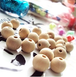 Wholesale Wooden Beads 12mm - DY013 Wholesale Nature Color Round Wooden Beads Lead-free 6mm 8mm 10mm 12mm 14mm 16mm 18mm 20mm 25mm 30mm (K013)
