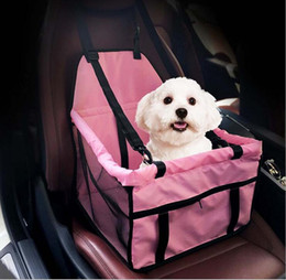 Wholesale Dog Car Booster Seats - 40*30*25cm Waterproof pet bosster car seat for Dogs and Cats Portable Car Pet Booster Seat with Clip-On Safety Leash and Zipper Storage