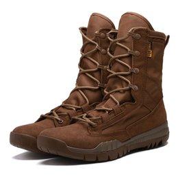 Argentina Fuerzas especiales ultraligeras Combate táctico Botas del desierto Zapatos para escalar Hombres Botas altas Botas de aliento Botas del ejército Zapatos de seguridad tácticos supplier special forces tactical boots Suministro
