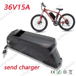 Wholesale Import Pack - Free Customs Duty 36V 15Ah Imported Samsung Lithium ion Frame E-bike Battery Pack with Charger Fit 350W 500W bafang BBS02 Motor