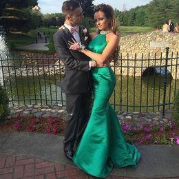 Wholesale Green Fashion Jackets For Women - Free Shipping Avondjurken 2017 Emerald Green Evening Dress Floor Length Mermaid Backless Prom Dresses for Women