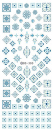 Wholesale Fingernail Wraps - Wholesale- DS300 2016 New Water Transfer Stickers for Nails Beauty Harajuku Blue Totem Decoration Nail Wraps Sticker Fingernails Decals