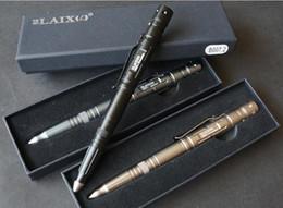 Wholesale Defense Pens - EDC Aluminum Tactical Pens Glass Breaker EDC Self Defense Tactical Survival Pen Multi-function Camping Tools with LED flashlignt