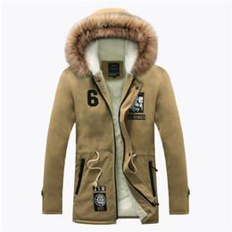Wholesale Parka Style Jacket Men - Wholesale- 2016 Winter New Style Warm Men's Jacket Parka Thick Warm Fur Collar Long Cotton Jacket Men Comfortable Cotton Hooded Parka Men