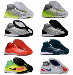 Wholesale Leather Turf Soccer Shoes - 2017 new Turf soccer shoes indoor cheap soccer cleats MagistaX Proximo II TF IC authentic football boots magista obra mens original shoes